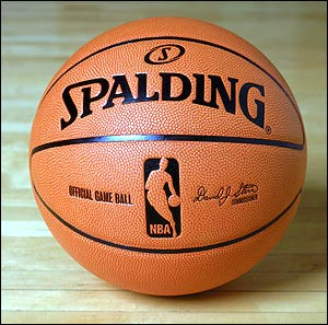 the redesigned NBA regulation basketball