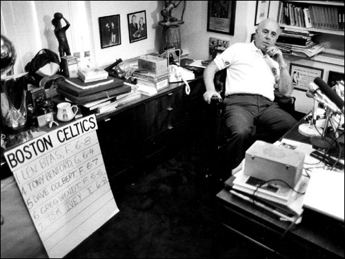 Red in his office just after the death of Len Bias